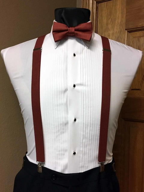 41ac7f06d2c9 Brick Men's Suspender 1-Inch X Back With Brick Pre-Tied Bow Tie Spencer J's  Collection - copy